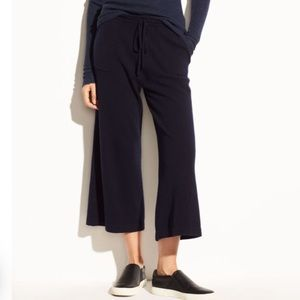 VINCE WOOL/CASHMERE WIDE LEG RELAXED FIT CROP PANT